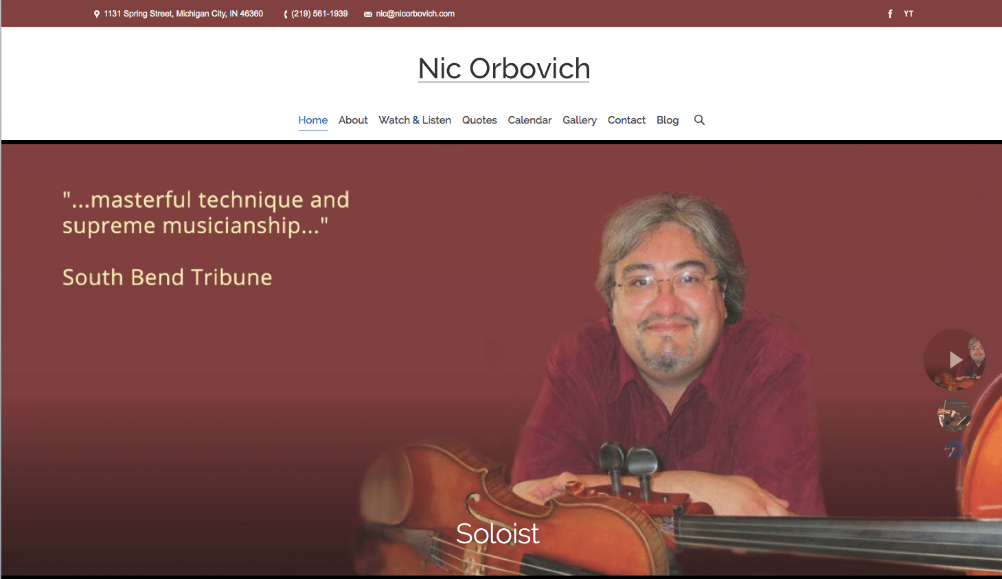 Orbovich Landing Page